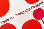Kankaassa tekstiä: Made by Tampella Finland
