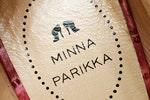 Minna Parikan logo kengän sisäpohjassa