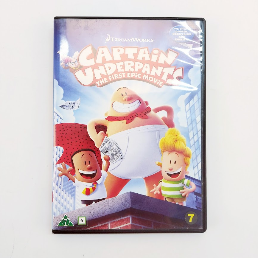 Captain Underpants The First Epic Movie DVD
