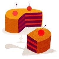 Piirroskuva jaetusta kakusta