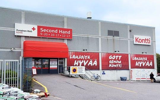 Espoon Kontti-myymälä ulkoa